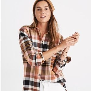 Madewell Ex-Boyfriend Seconda Plaid Flannel